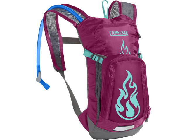 ac85ec93 CamelBak Mini M.U.L.E. Hydration Pack 1,5L Kids baton rouge/ flames ...